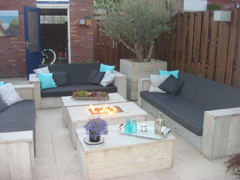 Tafel Met Haard : ≥ loungeset groot met tafel haard tuinmeubelen marktplaats